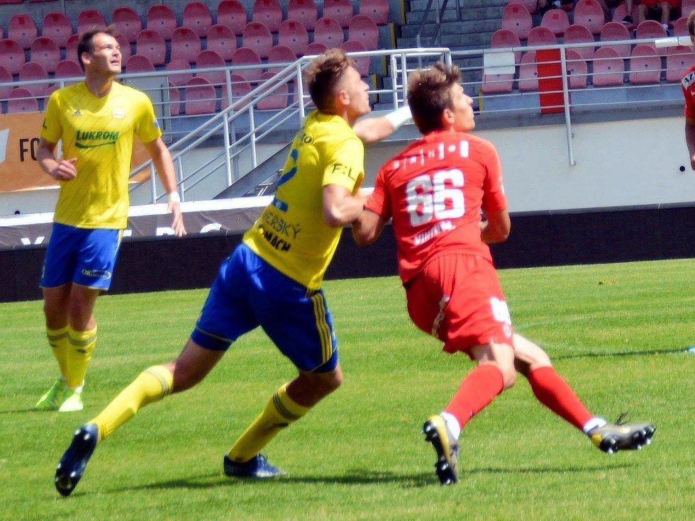 Fotbalista Marek Vintr v zápasech Zbrojovky Brno.