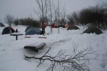 Tradiční zimní stanování na Urbánku