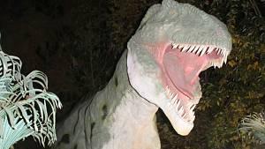 Vyškovský DinoPark nabízí noční prohlídky.