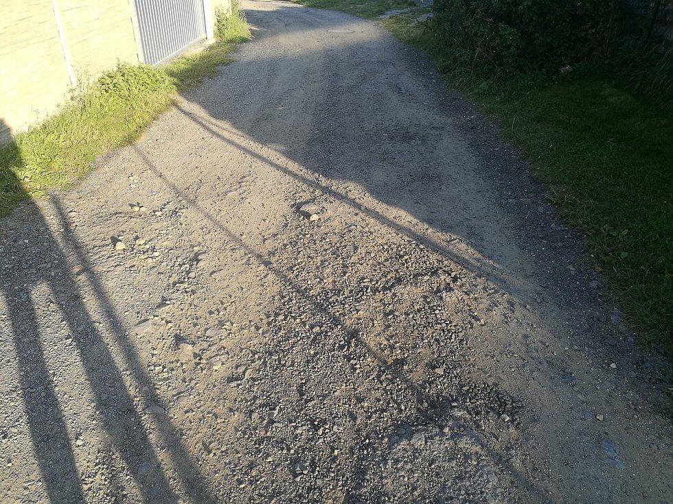 Stav cesty v Ruprechtově.
