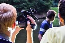 Snímky z natáčení filmu.