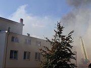 Požár kulturního domu v Drnovicích na Vyškovsku.