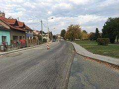 V Ivanovicích na Hané po letech opravují průtah městem