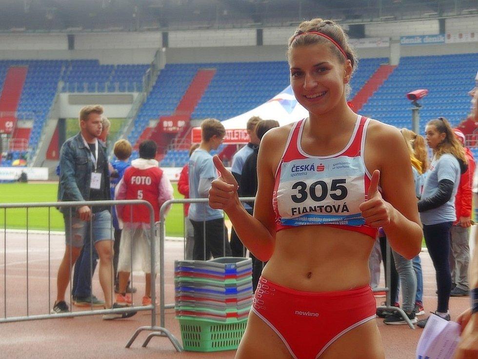 Sabina Fiantová obsadila v závodě žen halové ligy na jeden kilometr 4. místo