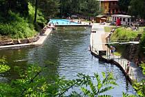 Přírodní koupaliště U Libuše v Lulči.