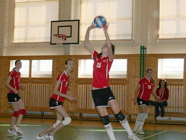 Zápas volejbalových juniorek z Vyškova.