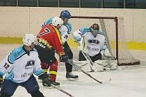 Hokejové utkání Vyškova proti Uherskému Ostrohu.
