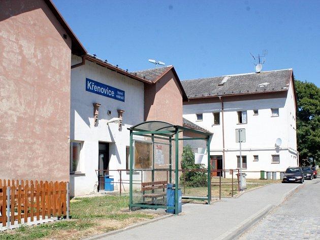 Křenovice horní nádraží.