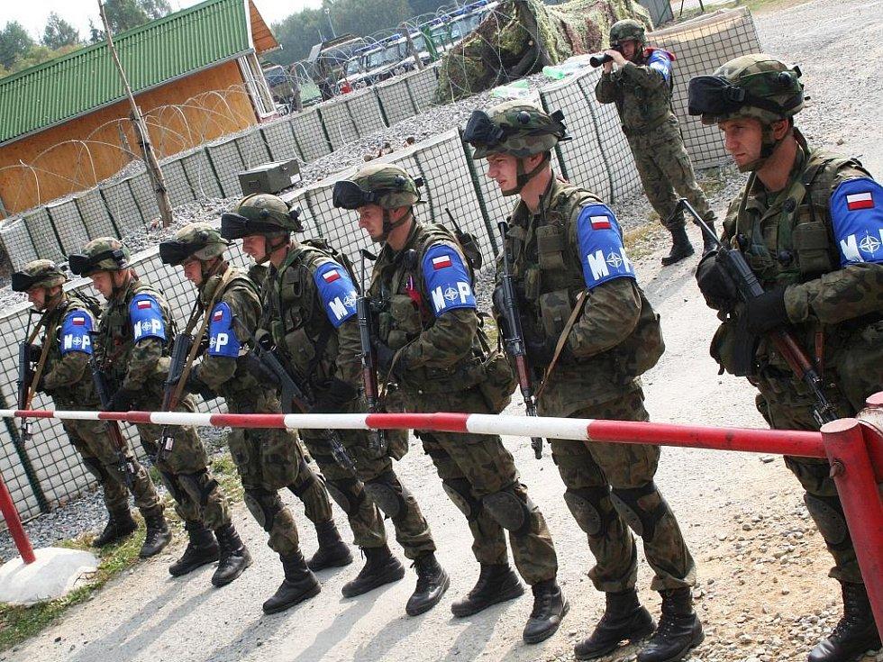Mezinárodní cvičení vojenské policie ve vyškovském vojenském prostoru.