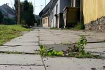Díry, praskliny, štěrk a propadliny, tak vypadají v současné době chodníky ve vyškovské Křečkovské ulici.