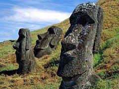 Kameny moai na Velikonočních ostrovech
