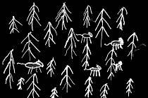 Staré pověsti z Drahanské vrchoviny ilustrovali žáci Základních škol Drnovice, Nemojany, Podomí a Mateřské školy Drnovice. Obrázek se vztahuje k příběhu Vlčí jámy v krásenských lesích.