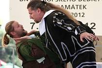 Masarykovo náměstí ve Vyškově se v pátek stalo dějištěm divadelních představení i kejklířských kousků. Začaly totiž Dny památek. Program doplnil i historický jarmark.