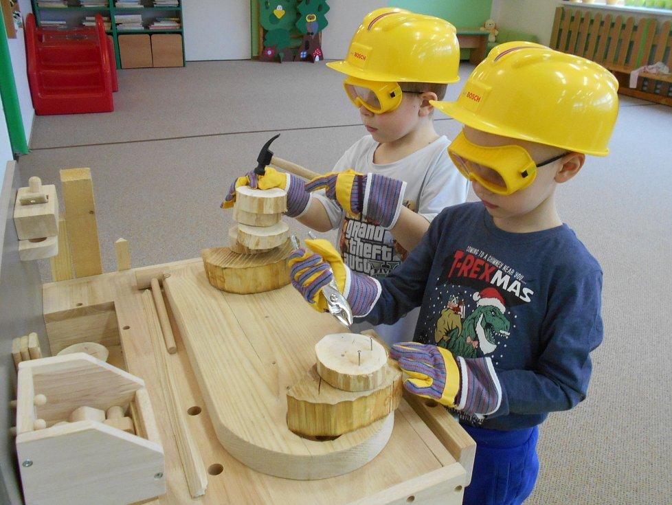 Stavebnice pro polytechnickou výchovu ve školce Šikulka.