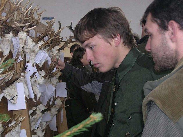 Návštevníci obdivovali trofeje ulovené zvěře z regionu.