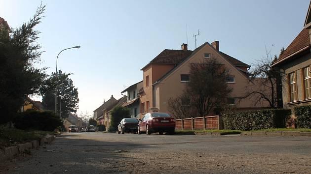Slovanská ulice ve Slavkově u Brna.