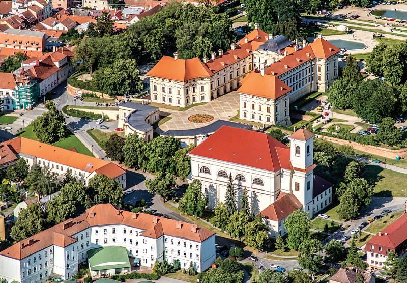 Slavkov u Brna z ptačí perspektivy. Foto: Slavkov u Brna