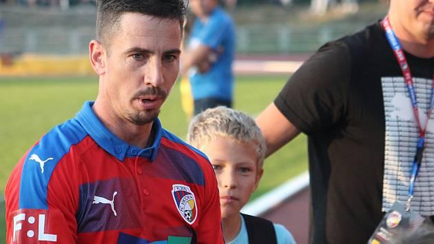 Milan Pertžela při zápasu MFK Vyškov - Viktoria Plzeň