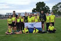 Mladší žáci a žákyně z atletického oddílu Orla Vyškov vyrazili na soutěž do Břeclavi.