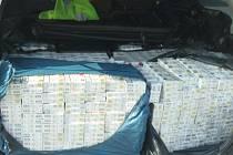 Cizinečtí policisté zadrželi u Vyškova kontraband pašovaných cigaret.