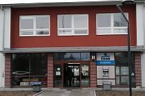 Čekárna autobusového nádraží ve Vyškově.