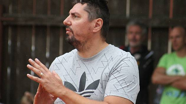 Zbyněk Čížek, trenér a manažer prvoligových  volejbalistů Sokola Bučovice.