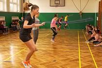 Okresní kolo soutěže Odznak všestrannosti proběhlo opět v hale ZŠ 710 v Bučovicích a opět byla jeho garantkou olympionička Šárka Kašpárková.