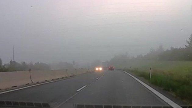 Jízda v protisměru na D1 u Kroměříže