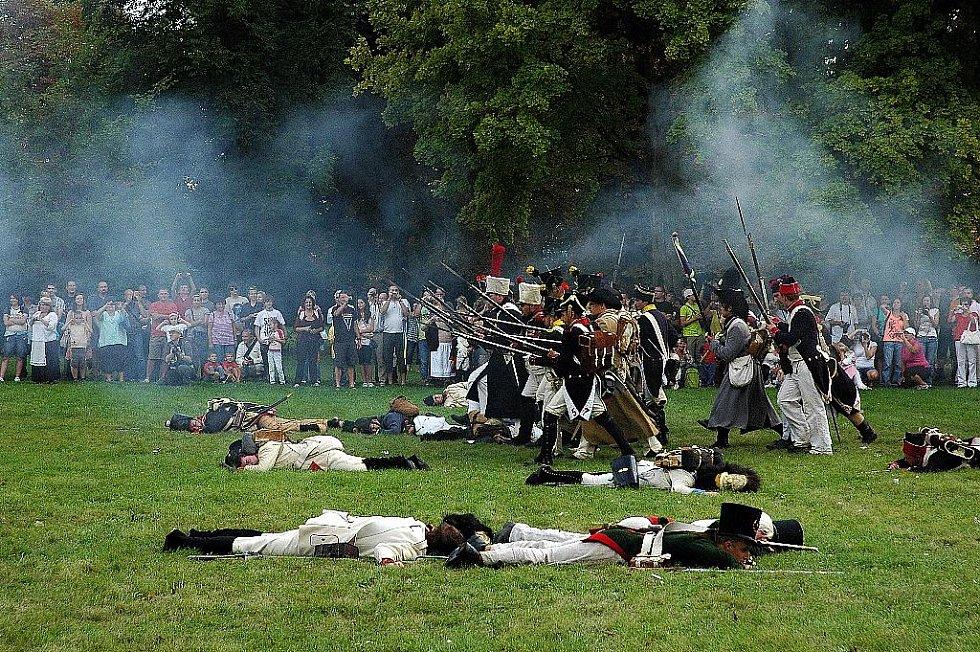 Napoleonské dny ve Slavkově - Závěrečný útok francouzských pěších vojsk.