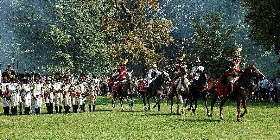 Napoleonské dny ve Slavkově - Útok spojenecké jízdy.
