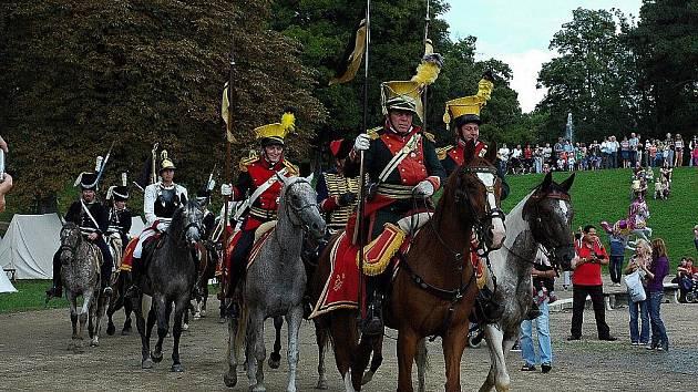 Napoleonské dny ve Slavkově - Spojenecká jízda se vydává na pochod.