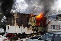 Požáru střelnic v Moravských Málkovicích