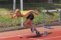 Závodníci Orla Vyškov na mistrovství Jihomoravského kraje starších žáků v Břeclavi.