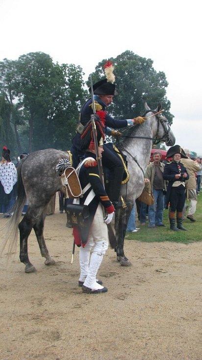 Velitel francouzské armády na koni.