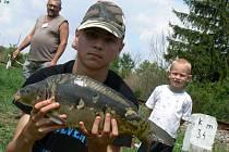 Devátý ročník rybářských závodů se v sobotu konal v Bučovicích. Spokojení odcházeli jak rybáři, tak i návštěvníci.