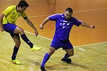 V utkání futsalové divize vyhrál Lino Kalábek Brno nad FC Kloboučky 7:4.