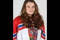 Hokejistka Eliška Vozdecká z Vyškova.