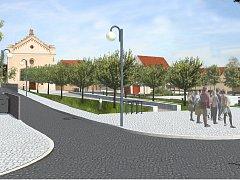 Slavkovské Koláčkovo náměstí se má po rekonstrukci stát klidovou zónou.