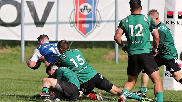 Vyškovští ragbisté vrátili Dragonu Brno loňskou porážku i s úroky. V jihomoravském derby 1. ligy deklasovali Brňany 69:14.