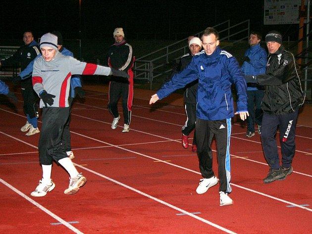 Zimní příprava divizních fotbalistů Vyškova.