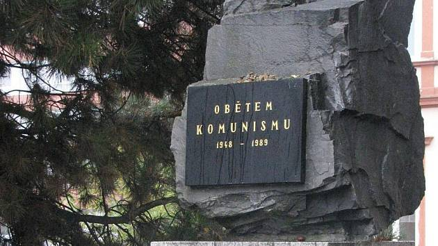 Památník Obětem komunismu ve Vyškově.