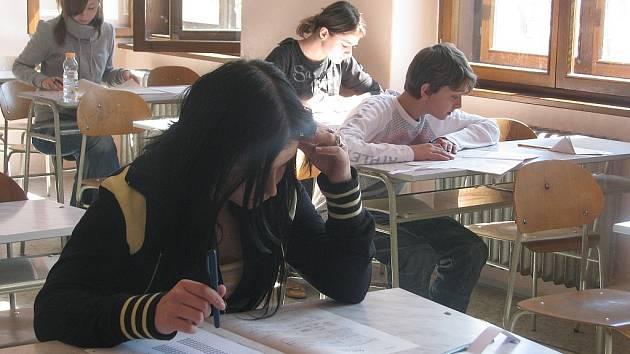 Přijímací zkoušky na gymnázium ve Vyškově.
