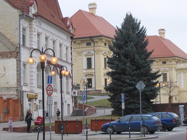 Náměstí ve Slavkově na Vyškovsku