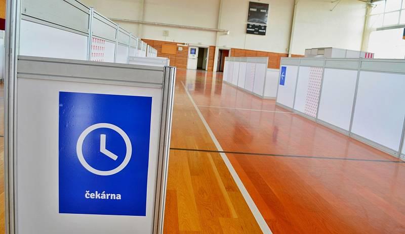 Očkovací centrum ve Vyškově.