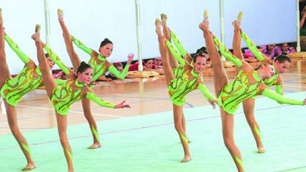Vyškovské gymnastky čeká další mistrovský závod. Tentokrát zabojují o medaile v estetické skupinové gymnastice. V Olomouci změří síly s dalšími nejlepšími republikovými oddíly.