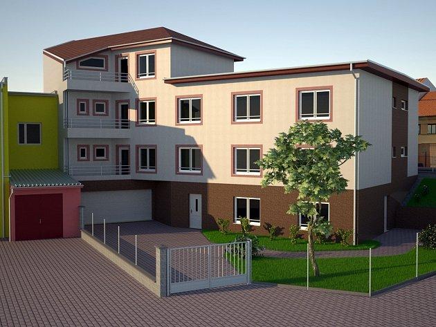 Součástí projektové dokumentace k nové budově chráněného bydlení je i vizualizace, která napovídá, jak bude místo už příští rok vypadat.