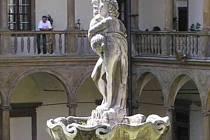 Zámecká fontána v Bučovicích.