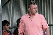 Milan Boušek, trenér fotbalistů Tatranu Rousínov.