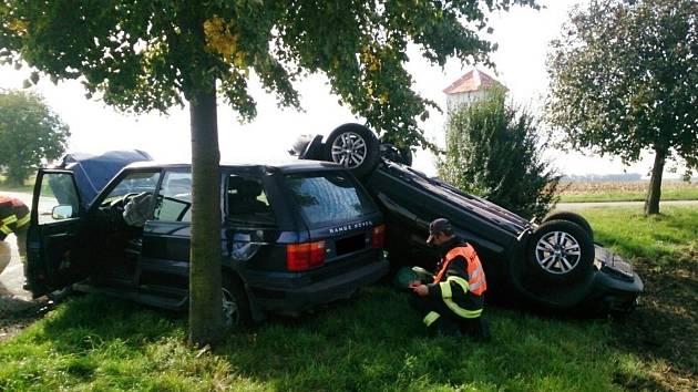 Na silnicích regionu se bouralo i v sobotu. Při nehodě dvou osobních aut u Zbýšova byli zranění dva lidé.