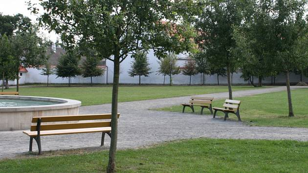 Zámecká zahrada ve Vyškově.